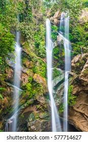 Mork Fa waterfall at Chiangmai province, Thailand.