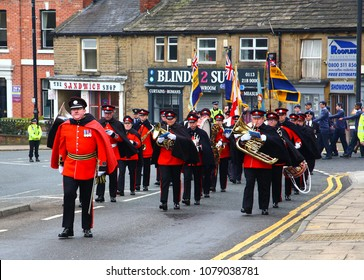 Morley, Leeds, United Kingdom - April 22nd 2018. St George's Day celebrations in Morley with a large street parade.