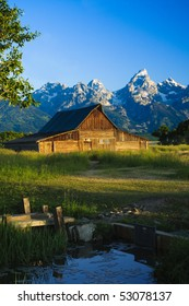A Mormon barn in Grand Teton National Park, Wyoming.