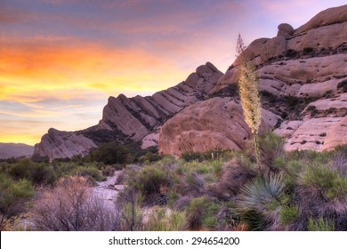 The Mormon Rocks, also called Rock Candy Mountains; part of the San Gabriel Mountains near Wrightwood, California.