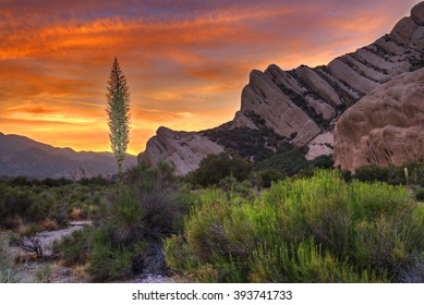 The Mormon Rocks, also called Rock Candy Mountains; part of the San Gabriel Mountains near Wrightwood, California