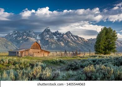 Mormon Row in Grand Teton National Park, Wyoming