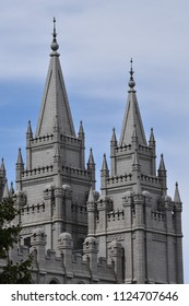 The Mormon Temple in Salt Lake City Utah dedicated in 1893