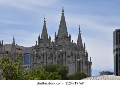 The Mormon Temple at Salt Lake City Utah dedicated in 1893