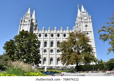 Mormon Temple at Temple Square in Salt Lake City, Utah