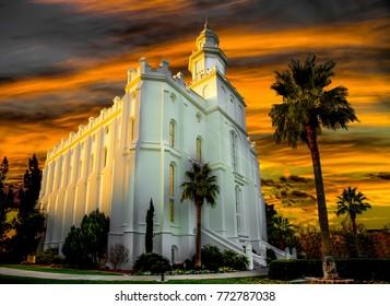Mormon temple St. George Utah