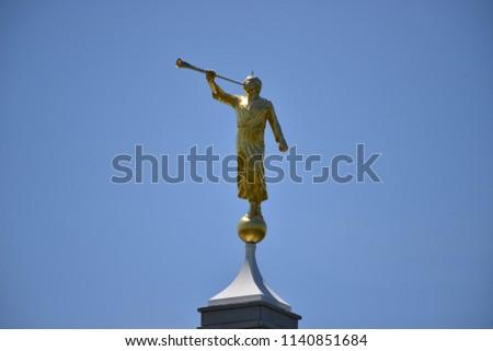 Mormons Religious Symbol Angel Moroni On Stock Photo Edit Now