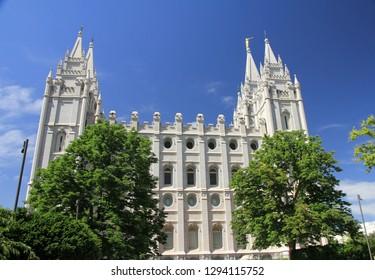 Mormons temple in Salt Lake city, USA