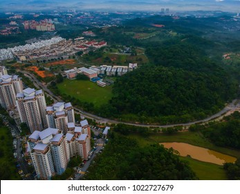 morning aerial view from Taman Rimba Alam Putrajaya