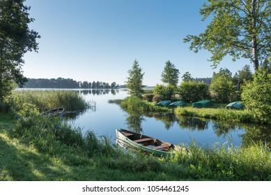 Morning at Aluksne lake, Latvia.