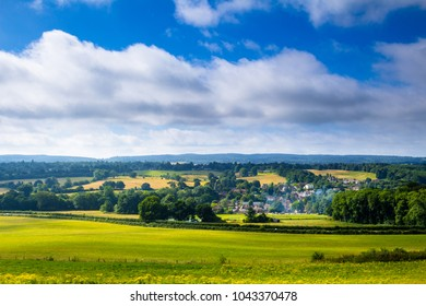 Morning August walk over the north downs from newlands and blackheath in surrey  south east England