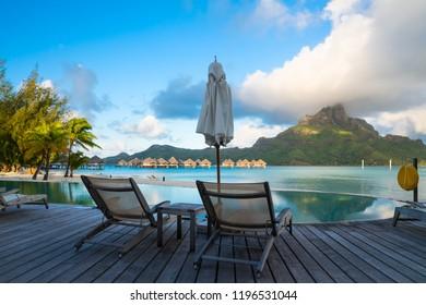 Morning in Bora Bora, Tahiti