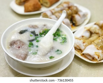 Morning Breakfast in Hongkong with Congee
