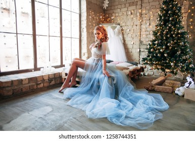 morning of the bride in the boudoir