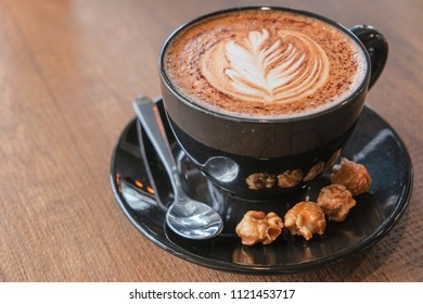 Morning cappuccino coffee