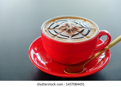 Morning cappuccino coffee​ and morning light background
