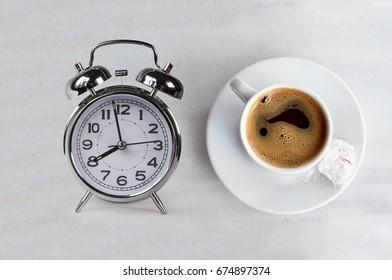 morning coffee eight 8 oclock time