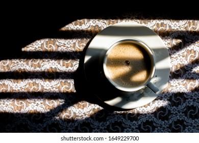 Morning Coffee With Milk & Light & Shadow