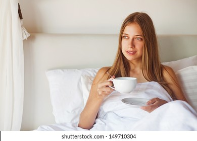 Morning coffee or tea in bed