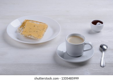 morning coffee with toast