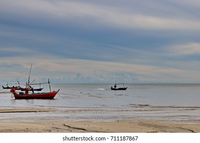 In the morning, fisherman going to the sea for catch the fish.