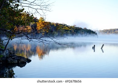 Morning fog on Table Rock Lake, Missouri