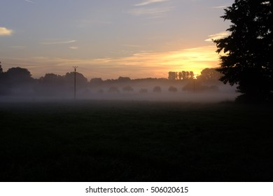 morning fog over landscape