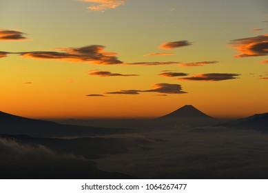 Morning Glow of Mt. Fuji