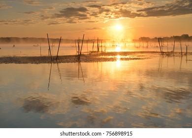 morning glow reflection