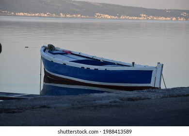 Morning in the harbor and view of the boats