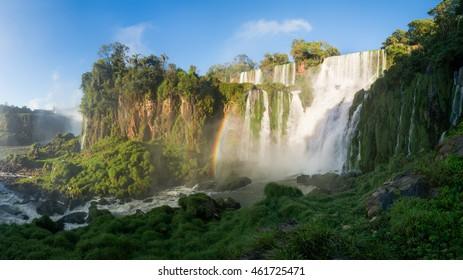 Morning at the Iguazu Falls, Argentine side