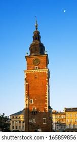 Morning in Krakow main market square. Poland, Europe