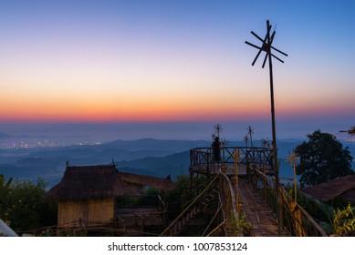 morning light blue hour doi sa ngo at chiang rai
