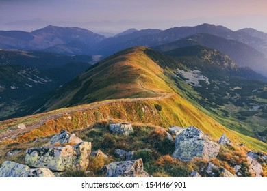morning light in the low tatras national park, slovakia, europe