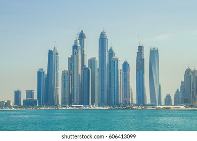 Morning in luxury city Dubai.