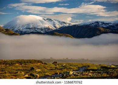 A morning mist in NP Jotunheimen, Norway
