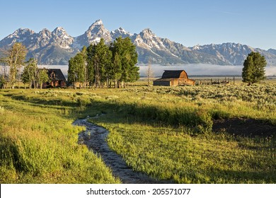 Morning at Moulton Barn in the Grand Teton National Park, Wyoming