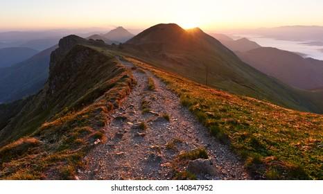 Morning at Mountains
