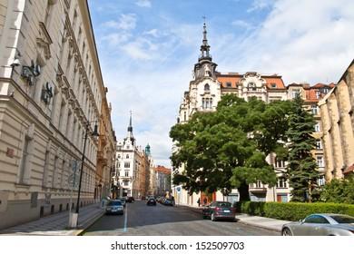 Morning of new day in Prague