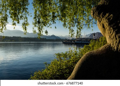 Morning on Lake Lucerne, Switzerland, Europe