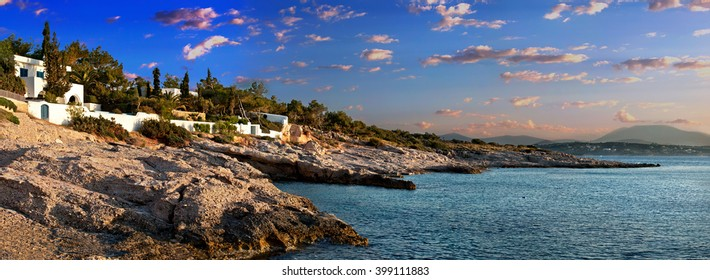 'Morning on Spetses island'