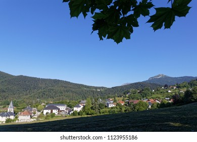 Morning on the village of Le Sappey in Chartreuse mountain range