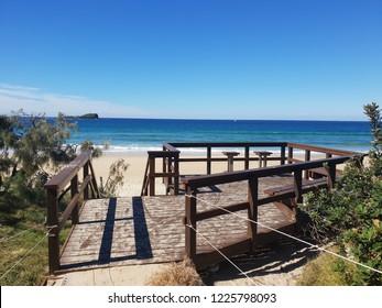 A morning photograph of the beautiful quiet Mudjimba beach, located on the Sunshine Coast.