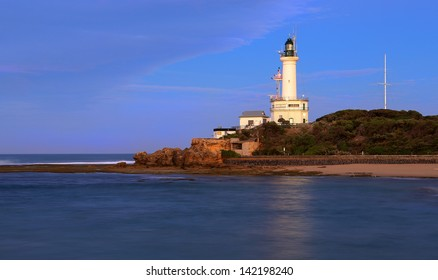 Morning at Point Lonsdale lighthouse on the Bellarine Peninsula in Victoria, Australia.