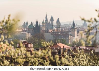 Morning Prague during Spring