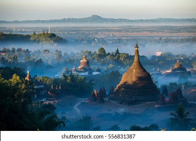 Morning at Ratanabon Paya in Mrauk-U, Myanmar. This place is popular national landmark.