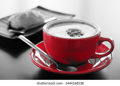 Morning red cup​ cappuccino coffee​