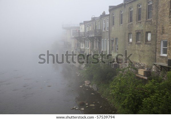 Grand River Flow >> Morning River Mist Rising Grand River Stock Photo Edit Now