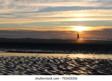 Morning Run Silhouette