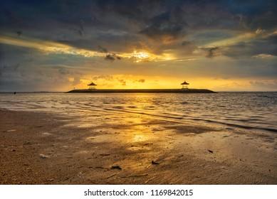 Morning Scenery at Karang Beach, Sanur, Bali, Indonesia